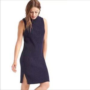 NWT Gap navy blue sleeveless sweater dress.